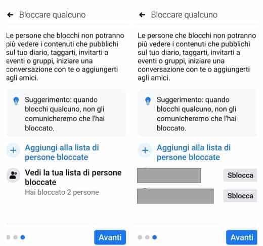 sbloccare contatto facebook
