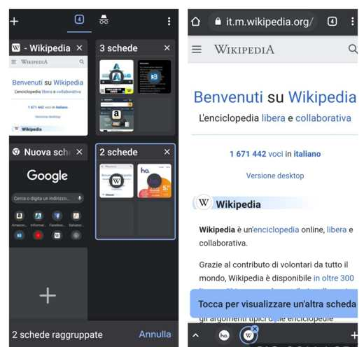 schede chrome android