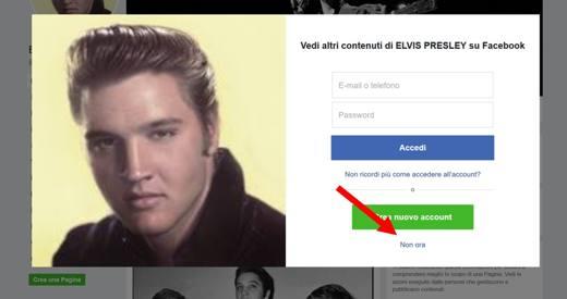 facebook login accedi altro account