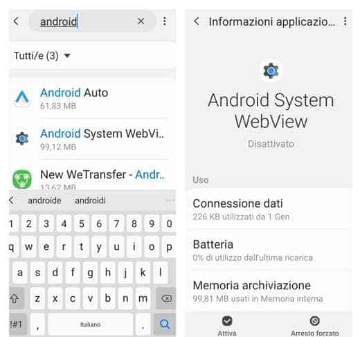 come disinstallare ultimo aggiornamento android