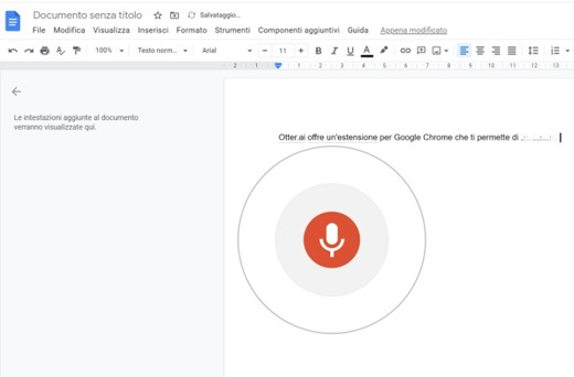 google dettatura vocale