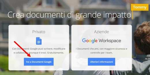 google docs italiano