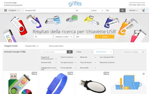 articoli promozionali di Giffits