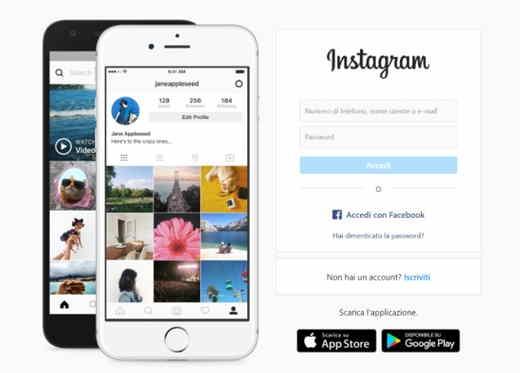 cambiare email su Instagram