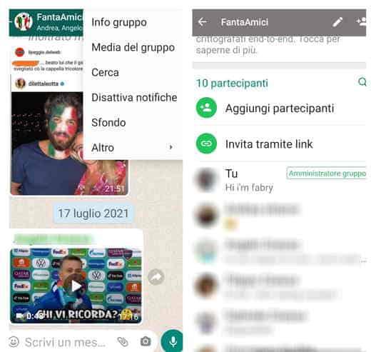 gruppi whatsapp nomi