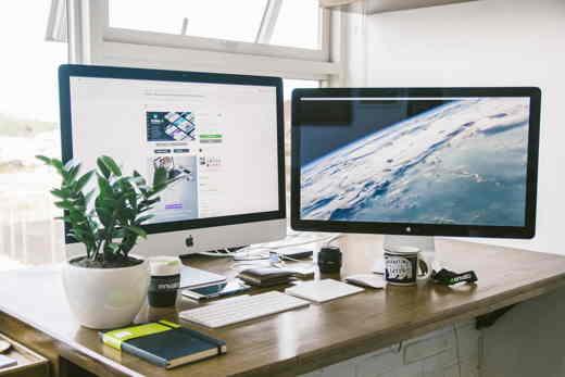 postazione di lavoro digitale