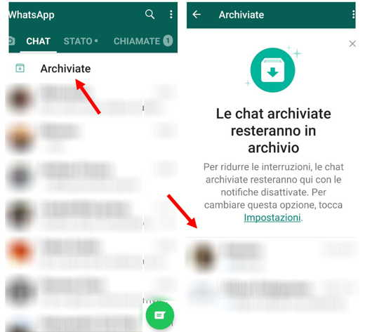archivio whatsapp