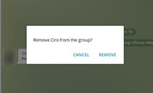 Come eliminare un contatto da Telegram