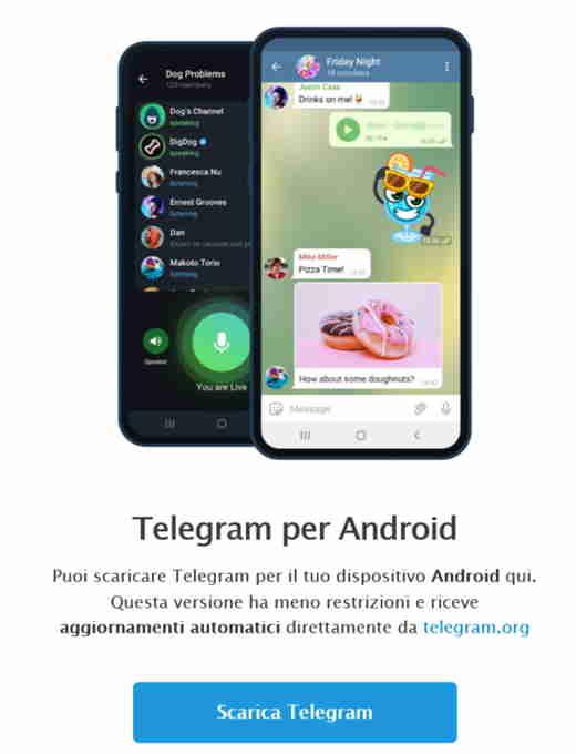 installazione telegram