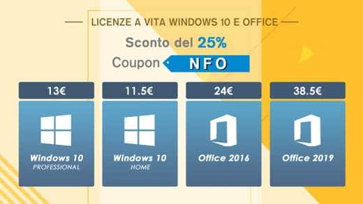 Windows 10 con licenza a vita