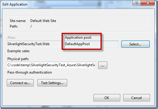DefaultAppPool