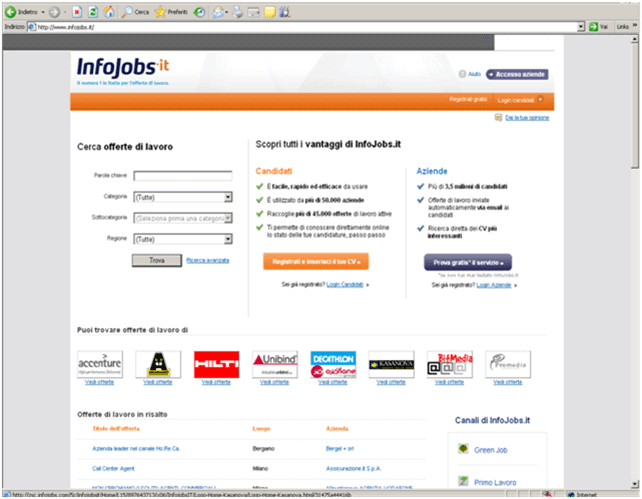 infojobs - Come trovare lavoro attraverso il Web?