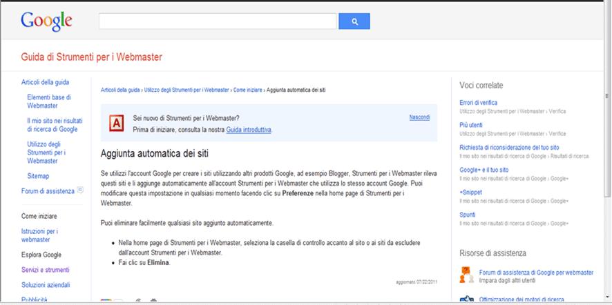 webmaster googl
