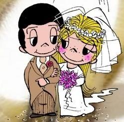 Caricatura degli sposi