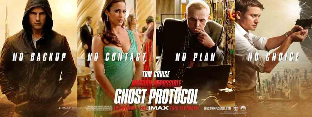 Mission Impossible %e2%80%93 Protocollo Fantasma nuovi poster 1 - Mission Impossible - Protocollo Fantasma: continua la saga con Tom Cruise