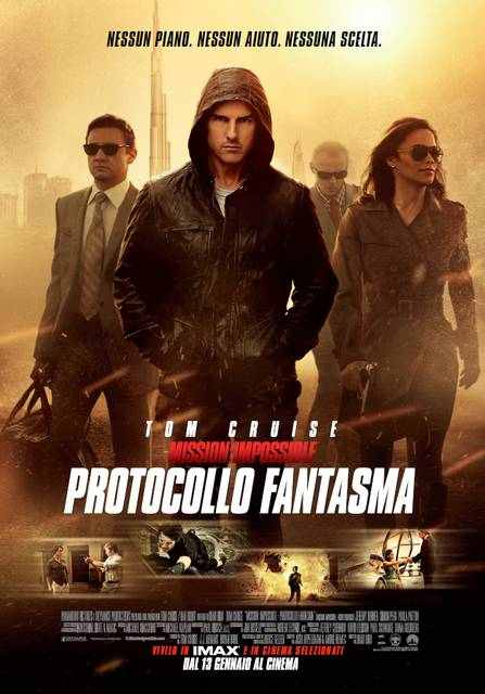 mission impossible protocollo fantasma poster italia mid - Mission Impossible - Protocollo Fantasma: continua la saga con Tom Cruise