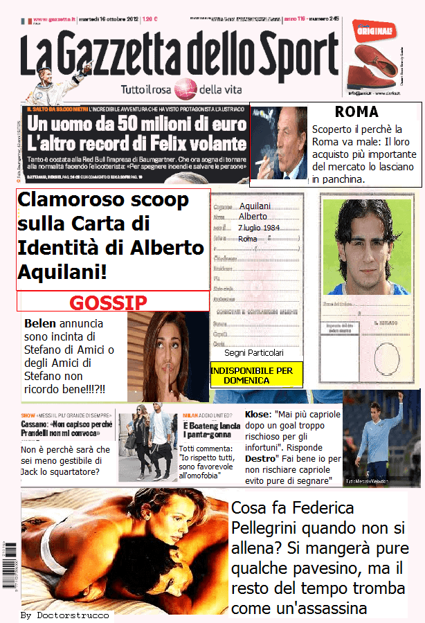 Satira in prima pagina 19/10/2012