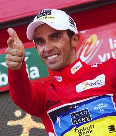 Alberto Contador dopo il trionfo alla Vuelta