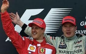 Hakkinen e Schumacher
