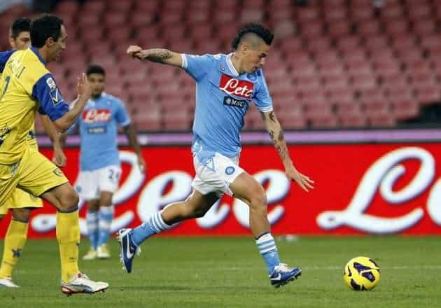 Il sinistro di Hamsik decide Napoli - Chievo