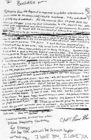 la lettera di kurt cobain prima di morire