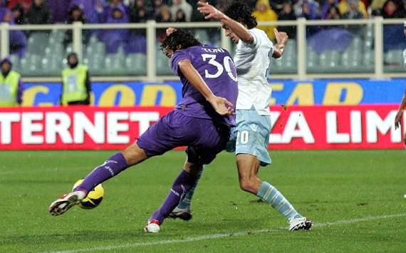 La girata di Toni: 2 -0 viola sulla Lazio
