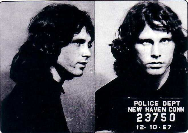 Jim Morrison arrestato al concerto di New Heaven