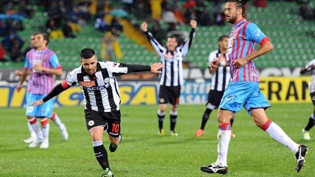 Il solito Di Natale: doppietta per lui e 2 - 2 fra Udinese e Catania