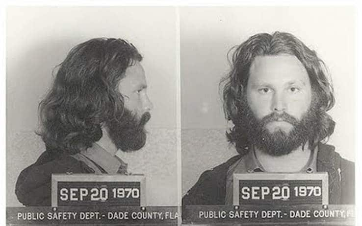 Jim Morrison arrestato al Dinner Key Auditorium di Miami 1969