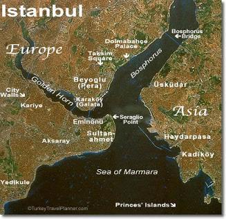 Mappa di Istanbul
