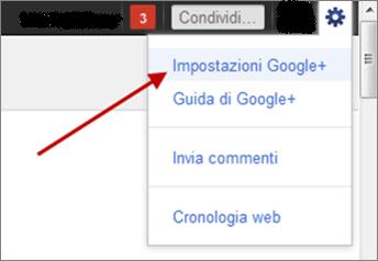 Impostazioni profilo Google +