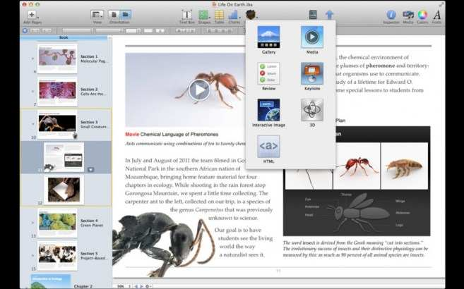 screenshot iBooks Author