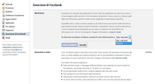Inserzioni di Facebook