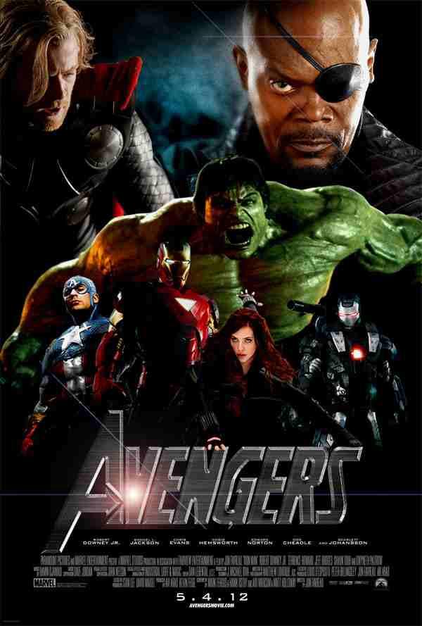 (The Avengers)(poster)The Avengers poster - Il Cavaliere Oscuro - Il ritorno è il film più atteso del 2012