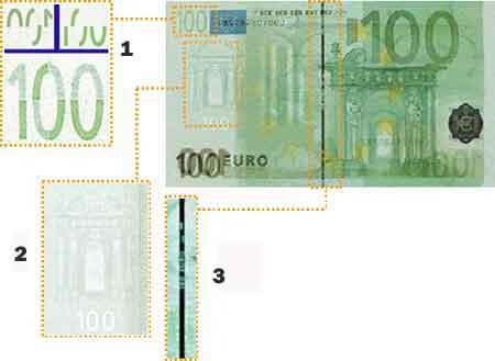banconota controluce