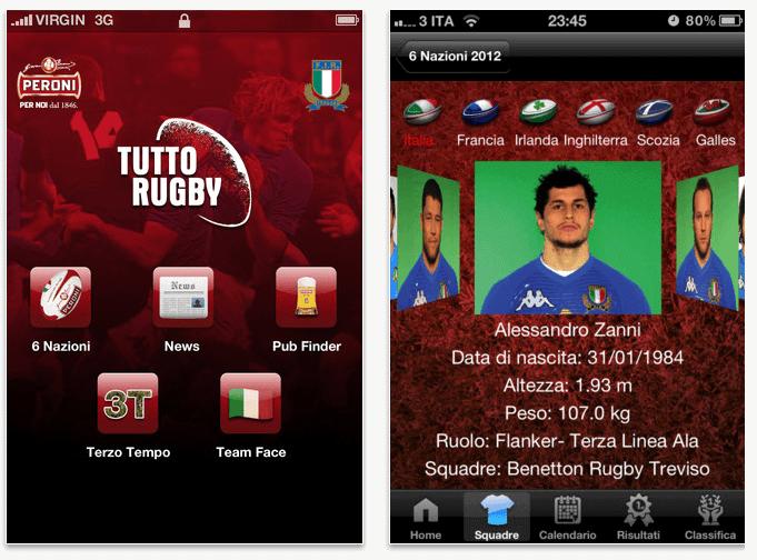 tuttorugby - TuttoRugby: l'app per i fan del 6 Nazioni