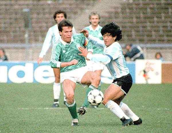 Matthaus e Maradona