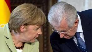 merkel monti - Euro2012: Italia - Germania... armiamoci di spread... e di ricordi...