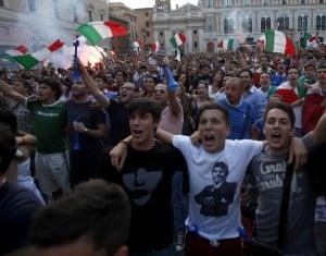 piazza - Euro2012: a Kiev Spagna - Italia