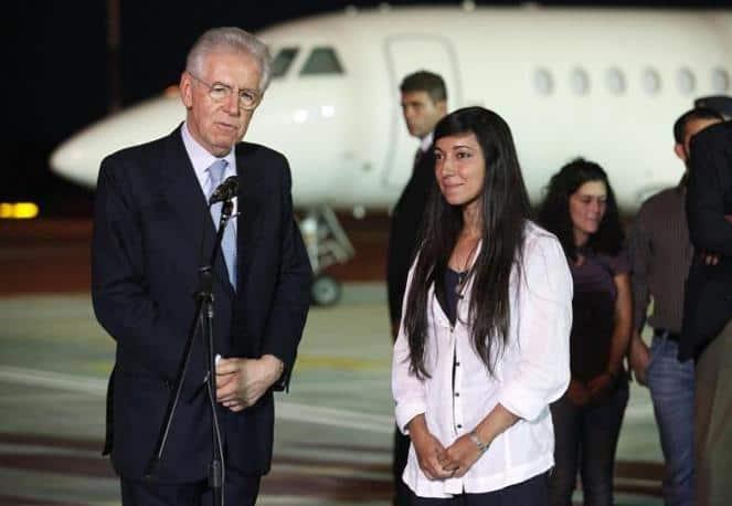 Rossella Urru con Monti