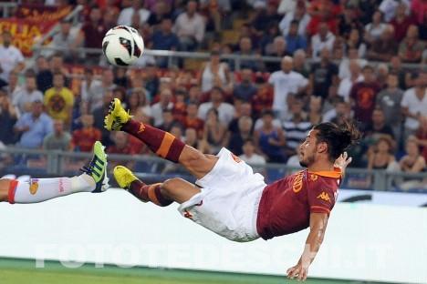 Rovesciata e goal di Osvaldo in Roma-Catanai