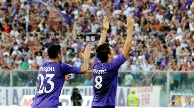 Il goal di Jovetic in Fiorentina-Udinese