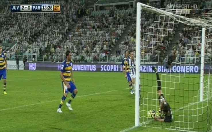 Il gol di Pirlo in Juve-Parma