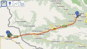 mappa pista ciclabile San Candido Lienz