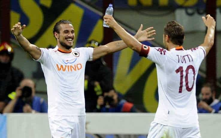Pablo Daniel Osvaldo e Francesco Totti
