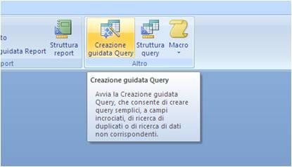 Creazione guidata query