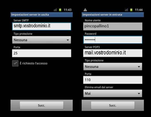 Aggiungi Account Email Android