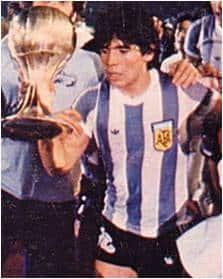 Maradona Campione Juniores con l'Argentina