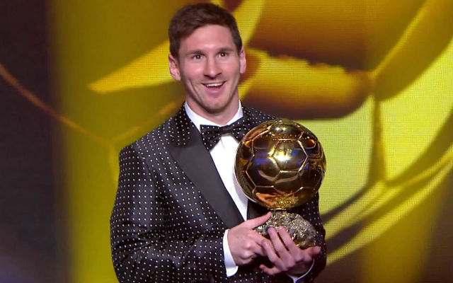 Leo Messi pallone d'oro 2012