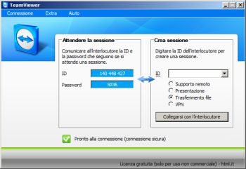 TeamViewer connessione